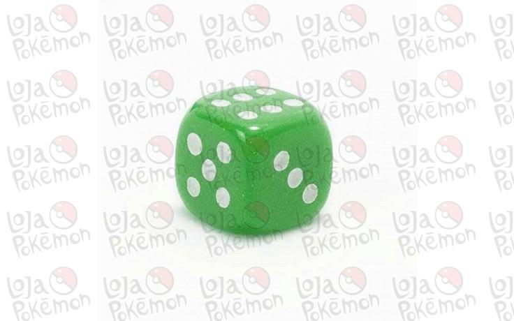 Dado de 6 lados premium 12x12mm - Verde