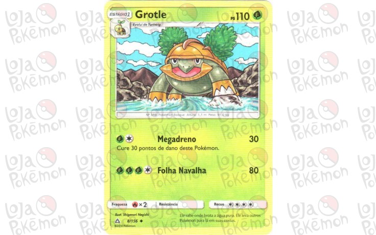 Grotle 8156 Ultra Prisma Card Pokémon