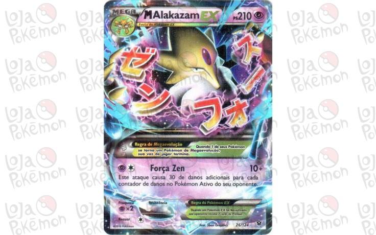 Mega Alakazam Ex Holo 26124 Fusão De Destinos Card Pokémon
