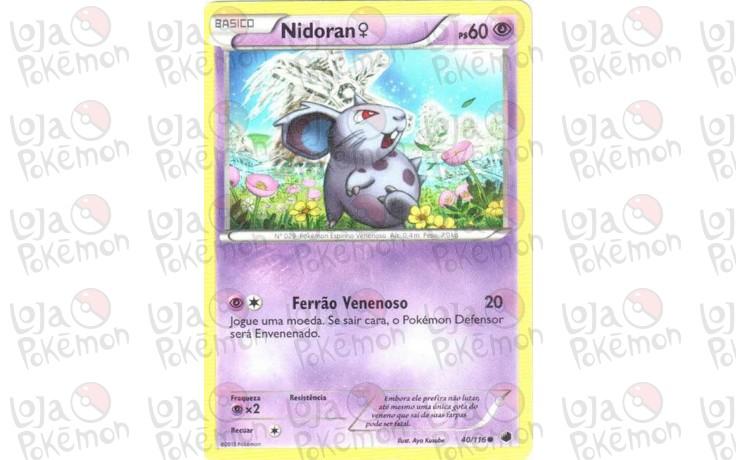 Nidoran Fêmea 40/116 - Congelamento de Plasma