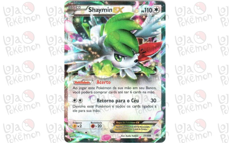 Shaymin Ex Holo 77108 Céus Estrondosos Card Pokémon