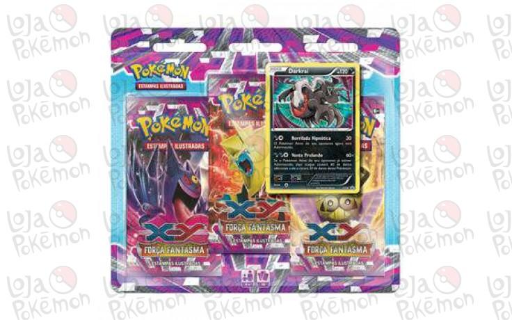 Triple Pack Pokémon - Coleção Força Fantasma - Darkrai