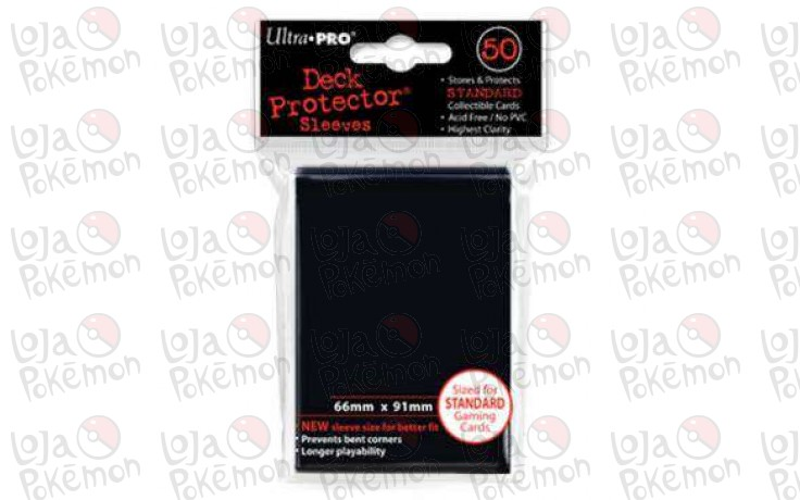 Deck Protector Ultra-Pro Preto 66x91mm  - 50 Unidades