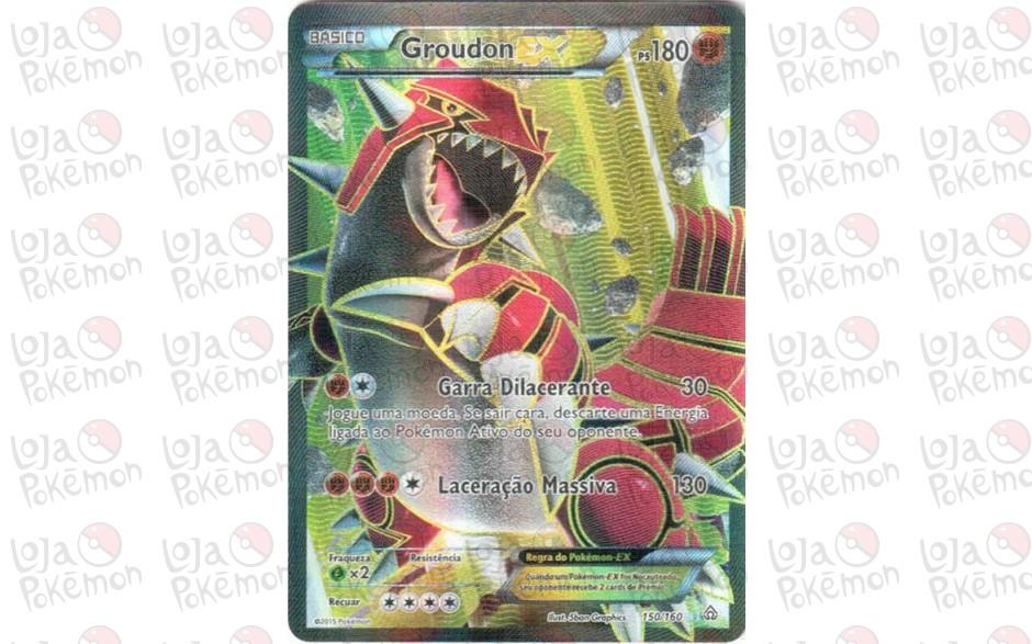 Groudon EX - Full Art -  150/160 - Conflito Primitivo - Card Pokémon