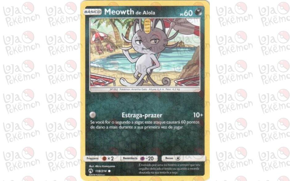 Meowth de Alola 118/214 - Trovões Perdidos
