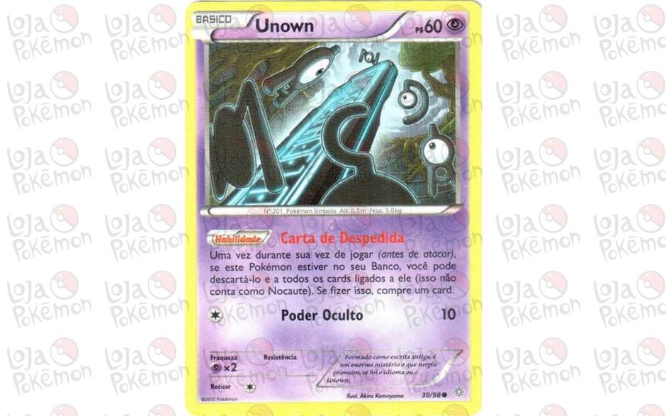 Unown 30/98 - Origens Ancestrais