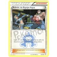 Admin. da Equipe Aqua 25/34 - Crise Dupla - Card Pokémon