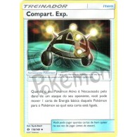 Compart. Exp. - Reverse Holo 118/149 - Sol e Lua - Card Pokémon