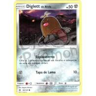 Diglett de Alola - Reverse Holo 86/149 - Sol e Lua - Card Pokémon