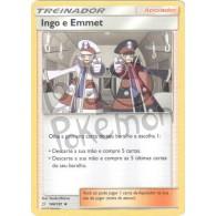 Ingo & Emmet 144/181 - União de Aliados - Card Pokémon
