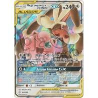 Mega Lopunny & Jigglypuff GX - Holo 165/236 - Eclipse Cósmico - Card Pokémon