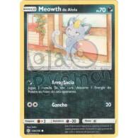 Meowth de Alola - Reverse Holo 128/236 - Eclipse Cósmico - Card Pokémon