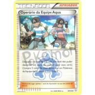 Operário da Equipe Aqua 26/34 - Crise Dupla - Card Pokémon