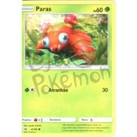 Paras 4/149 - Sol e Lua - Card Pokémon