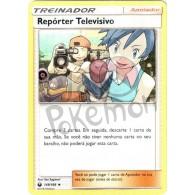 Repórter Televisivo 149/168 - Tempestade Celestial - Card Pokémon
