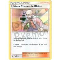 Última Chance de Blaine - Holo 58/70 - Dragões Soberanos - Card Pokémon