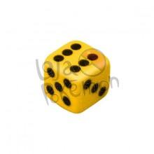 Dado de 6 lados 14x14mm - Amarelo