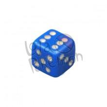 Dado de 6 lados 14x14mm - Azul